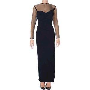 Lauren Ralph Lauren Navy Matte Jersey Formal Gown